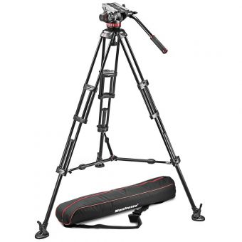 Manfrotto MVH502A,546BKB1 - Bundle mit 504PLONGR